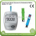 aprobado por la ce medidor de glucosa sanguínea de colesterol con medidor de prueba