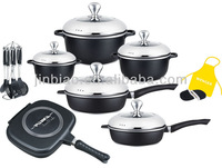 22pcs NON-STICK coating kitchen ware/die cast aluminum calphalon cookware sets