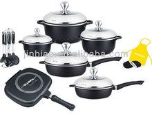 22pcs NON-STICK coating kitchen ware/die cast aluminum calphalon cookware sets
