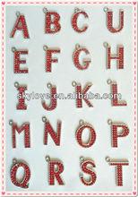 fashion diamond alphabet letters keychains metal letters