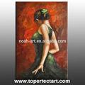 Hot vente 2014 danseuse espagnole peinture à l'huile à la main