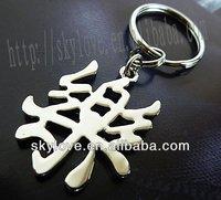 custom metal word keychain wholesale