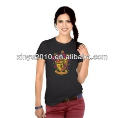 fashion V-neck cotton t shirt printing factory