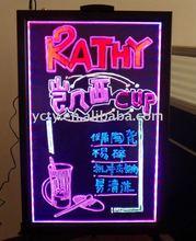 Transparent Acrylic LED Writing Board