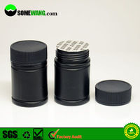HOT SELL!30ml empty plastic drug bottle,black capsule bottle for plastic drug vials,PE plastic drug containers for pill packging