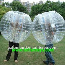 inflatable Body Zorbing Ball, Human Bumper Bubble Ball