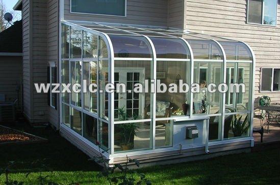 Cubierta curva de aluminio y vidrio templado terraza - Cubiertas de aluminio para terrazas ...