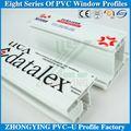 Guangdong ventanas y puertas pvc material de construcción