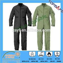 EN11611/EN11612/EN1149 flame retardant Pilot coverall/flight suit/flying suit
