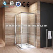 Double sliding door shower room