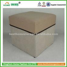 Square folding storage stool ottoman