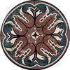 marble mosaic medallion, backsplash stone mix glass mosaic