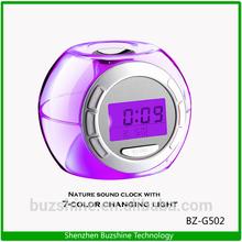 7 Color Changing Led Light Digital Alarm Clock