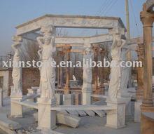 White marble gazebo parts