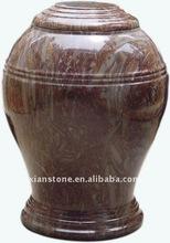 Brown marble ash urn