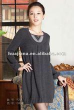 2014 winter women's long cashmere dress