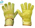suede leather gloves nitrile coated safety working gloves touch gloves leather