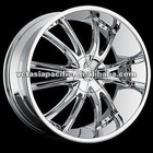 Aluminum Alloy Chrome Tuner Mag wheel 20 22 24 26 inch BOSSINI