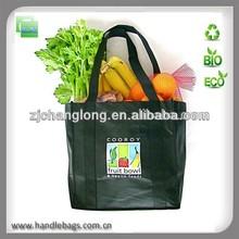 Reusable transfer printing grocery non woven shopping bag
