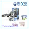China de buena calidad y venta caliente automático completo tejido facial de cartón de embalaje caja machine`