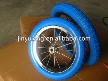 12/14 inches alloy PU foam child bicycle wheel ,kid bike wheel ,Baby carrier wheel