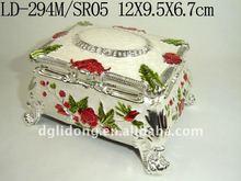docrative metal jewelry box(LD-294M/SR05)