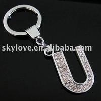fashion metal alphabet letters key ring