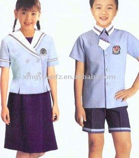 Uniforme de l'école primaire- les garçons et les filles