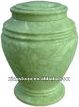 Natural antique cremation urn