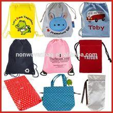 Wholesale cotton fabric shoe bag/drawstring bag