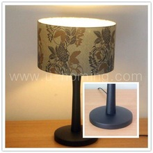 Wood table lamp with shade Bedside Table Lamps Touch Lamps