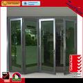 Decorativos de la parrilla de aluminio de la puerta corredera de aluminio de la puerta de la parrilla ce diseño de aluminio bi- puerta plegable