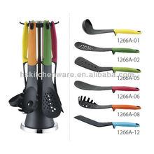 Elevate 6-Piece Heat-Resistant Utensil Set with nice design holder HS-1266B kitchen utensil set