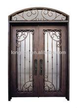 Top-selling antique glass iron door insert decorative