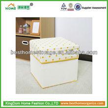Footstool storage ottoman/storage box