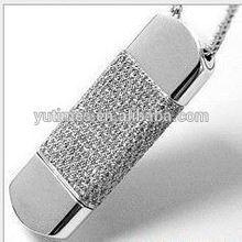 High quality free sample low price wholesale jewelry diamond usb flash drive