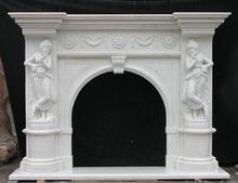Granite White Fireplace Mantle