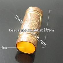 Brass Tube 15mmm hole:6mm Nickel-Free Lead-Safe wholesale shamballa beads