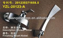 2014 Unique Design Novel Item Brush Nickel Single Handle Brass Bathroom Faucet