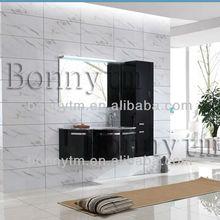 WANGHUA(BONNYTM) BN-8301 luxury black metal bathroom cabinet with lamp
