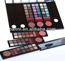78 colors eyeshdow & lipgloss can changable makeup case,cosmetic box
