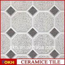 Dark green onyx floor tiles
