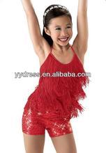Cheerful Design Cheap Jazz Latin Dance Children Girl Costume