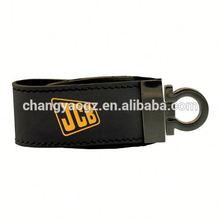 Logo Printing Wholesale Customized 128gb usb flash drive leather