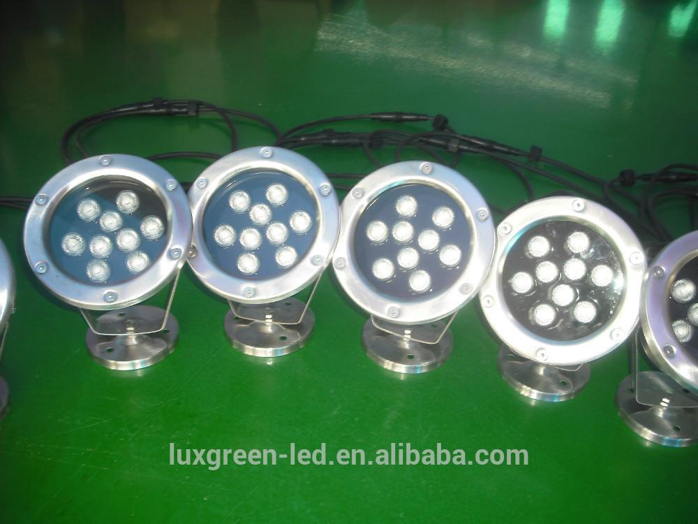 ip68防水、 rgbled水中ライト9x3w3年間の保証付き