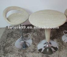 Nuevo diseño de barra de ratán bad taburete de la barra de mesa y taburete de la barra