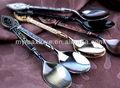 La promoción de café europa antiguos de cobre de acero inoxidable cuchara de metal/café/sopa de aleación de zinc