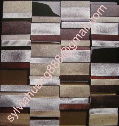 Aluminium mosaics-23x23mm
