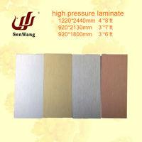 metallic aluminum high pressure laminate sheet
