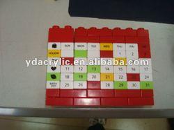 Jigsaw Acrylic desktop calendar home design